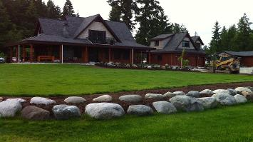 Our client's are very happy with the hardscaping and landscaping we did at their beautiful home.