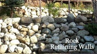 Caravan Pacific builds beautiful rock retaining walls for landscaping projects of all types.